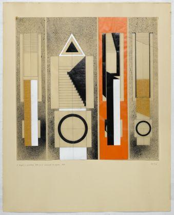 Il triangolo in architettura. Studio per il Monumento di Segrate, 1967
