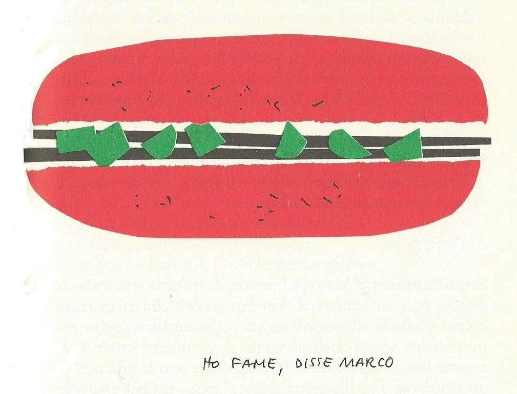 Illustrazione di Bruno Munari per Gianni Rodari, Il pianeta degli alberi di Natale, 1962