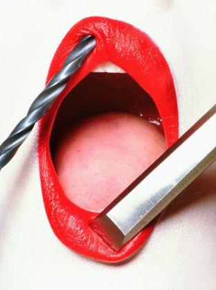 Irving Penn, Lips for Vogue US, 1995