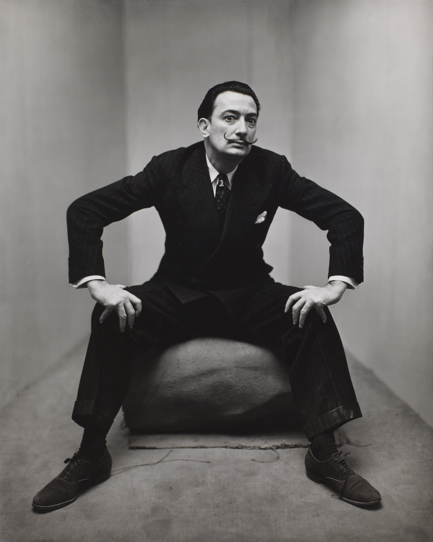 Irving Penn, portrait of Salvador Dali