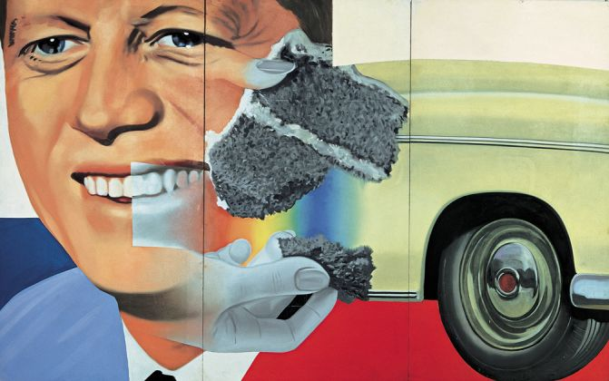 James Rosenquist, President Elect, 1960-61/1964, olio su masonite, 228 x 365.8 cm. Centre Georges Pompidou, Parigi. Photo courtesy of James Rosenquist