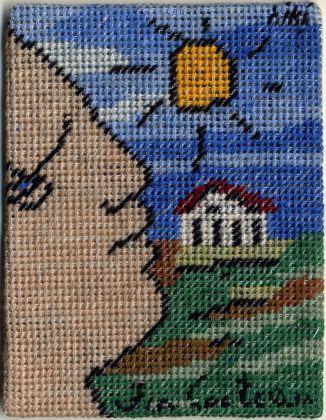 Jean Cocteau e Niki Berlinguer, Carta dei tarocchi, arcano maggiore, il Mondo. Collezione Paola Masino