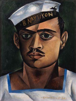 John Craxton, Head of a Greek Sailor, 1940. Olio su tavola, 33 x 30,5 cm. London Borough of Camden, © John Craxton Estate e DACS 2016. Foto credit London Borough of Camden. Courtesy Tate