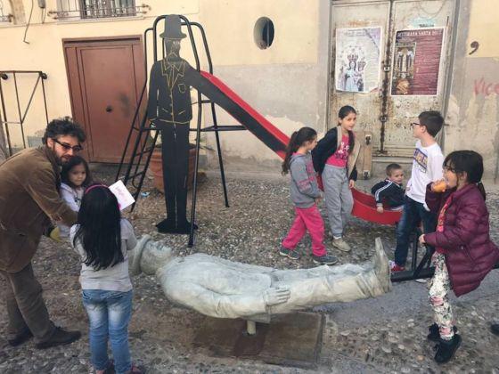Laboratorio Saccardi, Monumento a Franco e Ciccio, Palermo 8 aprile 2017