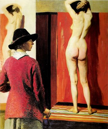 Laura Knight, Self-Portrait and Nude, 1913. Olio su tela, 152,4 x 127,6 cm. National Portrait Gallery, Londra. Courtesy Tate