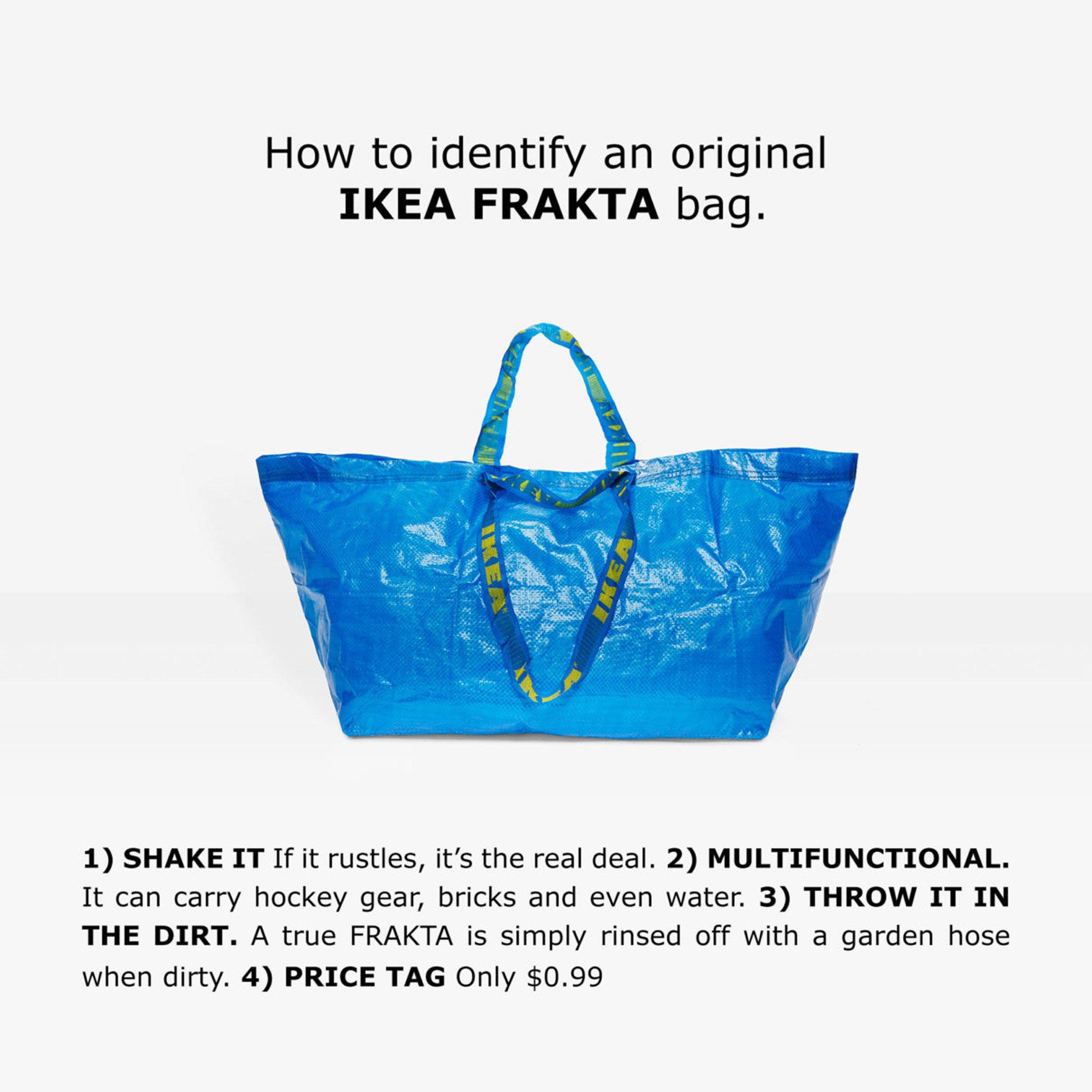 L'ironica risposta di Ikea alla trovata di Balenciaga