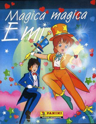 Magica magica Emi, 1986, Panini, Modena; copertina dell'album per la raccolta di 240 figurine