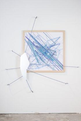 Martino Genchi, Timegraft e Drawing. Installation view at Galleria Michela Rizzo, Venezia 2017