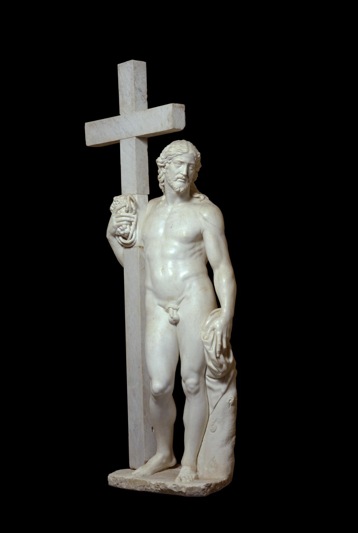 Michelangelo Buonarroti e anonimi, Cristo risorto, marmo. Monastero di San Vincenzo Martire, Bassano Romano. © Alessandro Vasari. Courtesy National Gallery