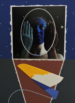 Michele Zaza, Paesaggio magico, 2005, tecnica mista su carta