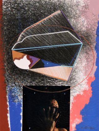 Michele Zaza, Paeseaggio magico, 2008, tecnica mista su carta