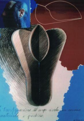 Michele Zaza, Senza titolo, 2002, tecnica mista e fotografia