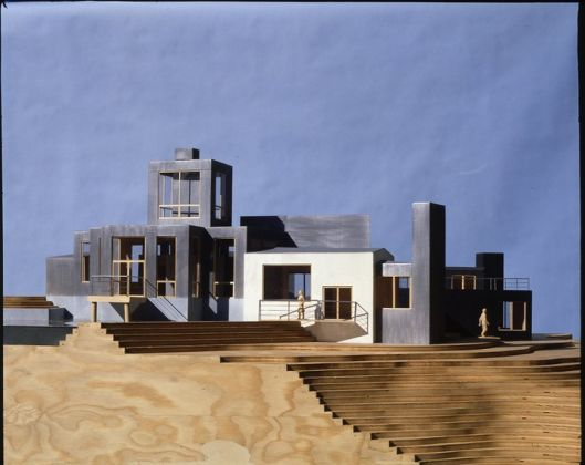 Model of Norton House, Venice, California, Frank Gehry, 1982–1984. Frank Gehry Papers. The Getty Research Institute. © Frank O. Gehry