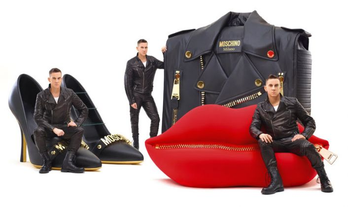 Moschino kisses Gufram, Jeremy Scott, photo Alberto Zanetti
