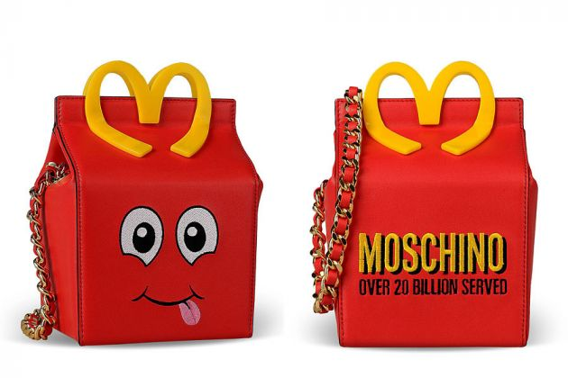 Moschino s'ispira a McDonald's, collezione Fall-Winter 2014 - bag
