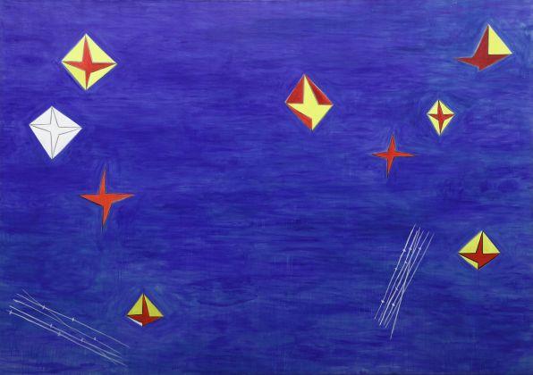 Nicola De Maria, Testa Orfica II. Dalla sala della 44° Biennale di Venezia, 1990