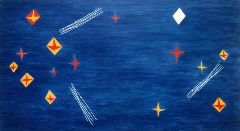 Nicola De Maria, Testa Orfica III. Dalla sala della 44° Biennale di Venezia, 1990