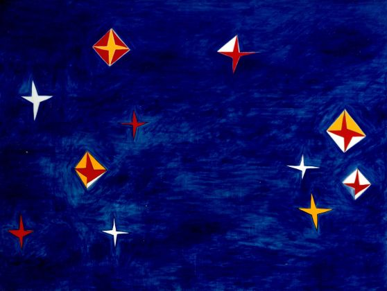 Nicola De Maria, Testa Orfica IV. Dalla sala della 44° Biennale di Venezia, 1990