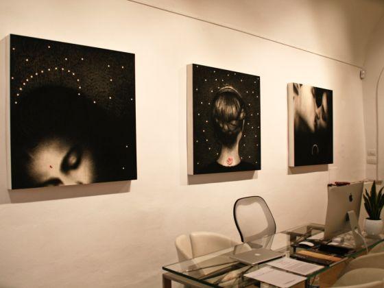 Omar Galliani. Exhibition view at Tornabuoni Arte, Firenze 2017