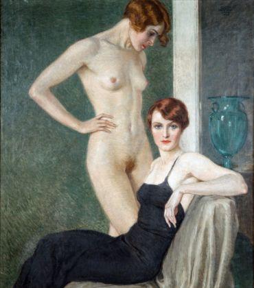 Oscar Hermann Lamb, La coppa verde, 1933, olio su tela. Collezione privata