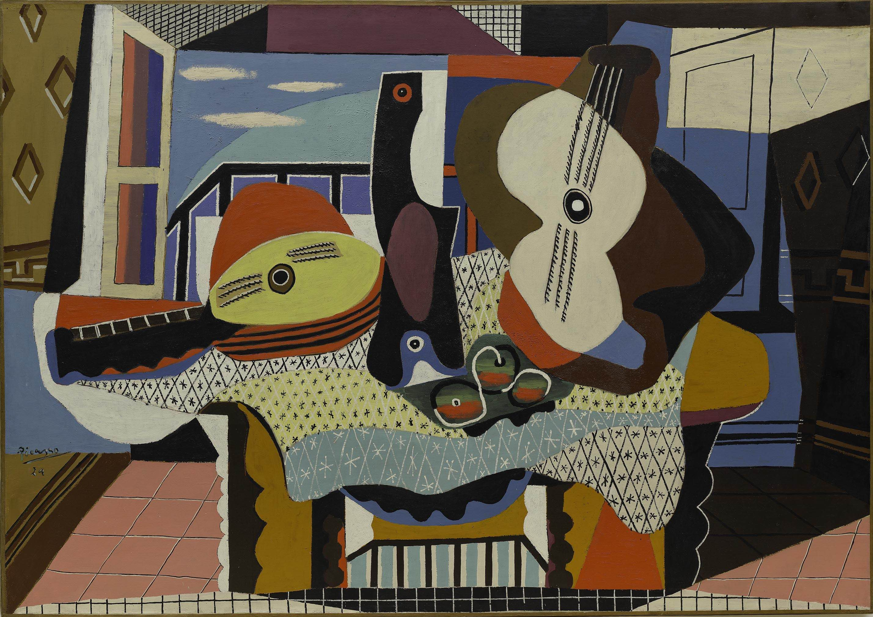 Pablo Picasso, Mandoline et guitare, 1924. Solomon R. Guggenheim Museum, New York (c) Sucesión Picasso, VEGAP, 2017