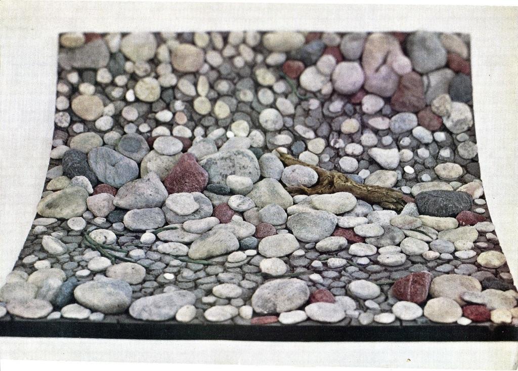 Piero Gilardi, Greto di fiume, 1966. Collezione Fondazione Gilardi. Photo Piero Gilardi