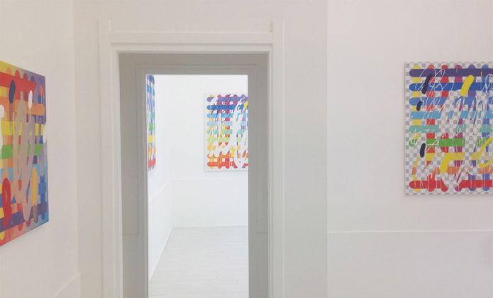 Pietro Spirito. Arcade Paintings. Exhibition view at Theca Gallery, Milano 2017