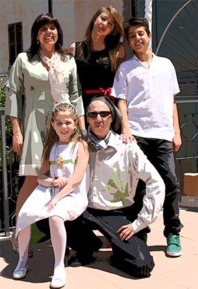 Pino Boresta con la sua famiglia