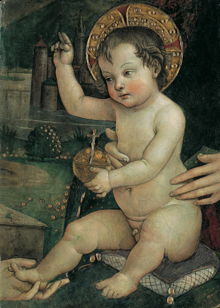 Pinturicchio, Bambin Gesù delle mani, 1492 ca. Fondazione Guglielmo Giordano, Perugia