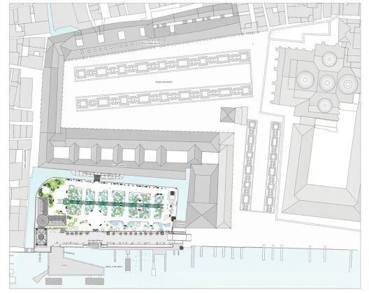 Planimetria dei Giardini Reali e dell'Area Marciana,Venezia, 2017