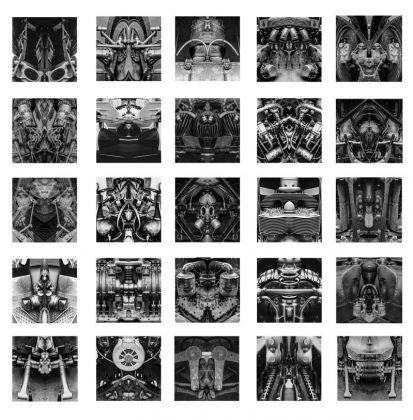 Rémy Markowitsch (Zurigo, Svizzera, 1957), Psychomotor, 2016, Stampa su carta baritata, 25 parti, 47 × 47 cm ciascuna, Courtesy Galerie EIGEN + ART LeipzigBerlin