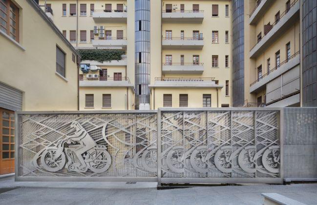 Richi Ferrero - Cancello Futurista- Omaggio a Depero - Lagrange12 Torino
