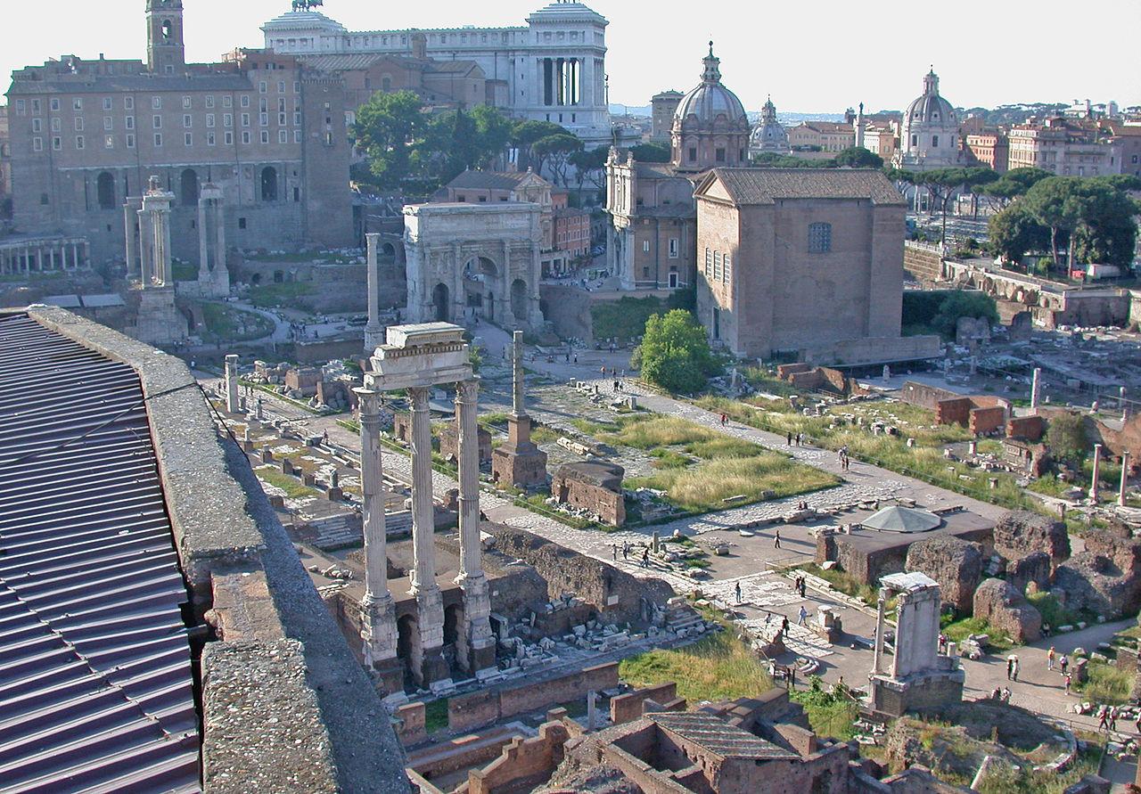 Roma, Foro romano, veduta dal Palatino