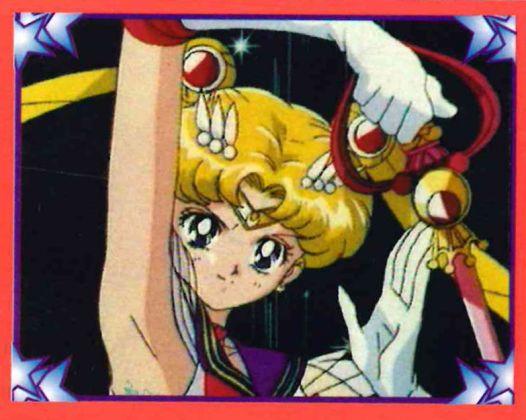Sailor Moon, 1996, Merlin, Milano; dall'album per la raccolta di 216 figurine