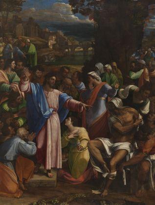 Sebastiano del Piombo, Lamento sul Cristo morto, c. 1512-16. Olio su tela, 259 x 219 cm. Viterbo, Museo Civico © Comune di Viterbo. Courtesy National Gallery