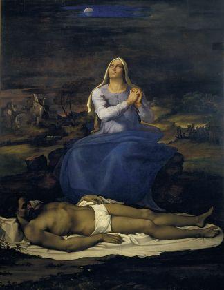 Sebastiano del Piombo, Il miracolo di Lazaro, ca. 1517-19. Olio su tela trasferito da tavola, 381 x 289,6 cm. © National Gallery. Courtesy National Gallery