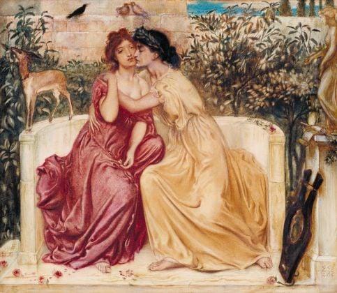 Solomon, Simeon, Sappho and Erinna in a Garden at Mytilene, 1864. Acquarello su carta, 33 x 38,1 cm.Tate, acquistato 1980. Courtesy Tate