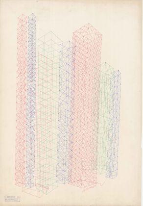 Strutture, 1956. Inchiostro su carta da spolvero, 100 x 70 cm. Courtesy Galleria Civica di Modena