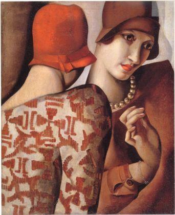 Tamara de Lempicka, Les confidences, 1928, olio su tela. Collezione privata