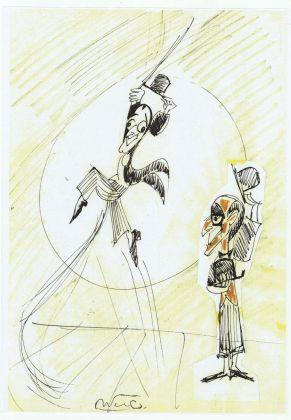Totò in un disegno di Federico Fellini, Collezione Vincenzo Mollica
