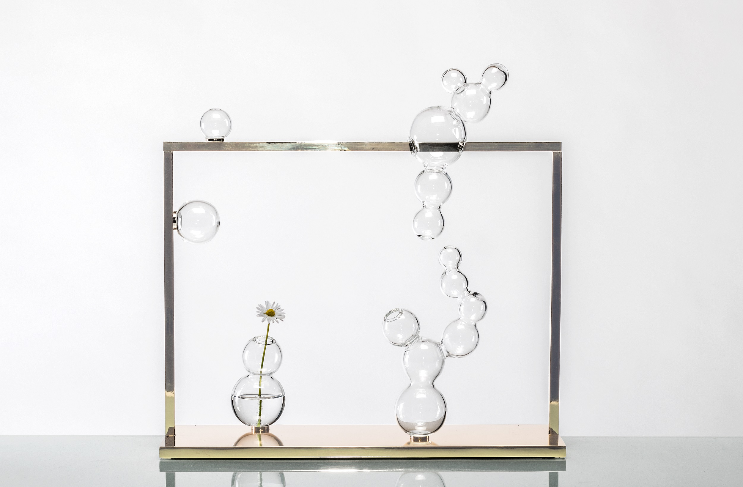 Una nuova creazione di Simone Crestani, Bollicine, 2017, 40cm x 15cm x 40cm