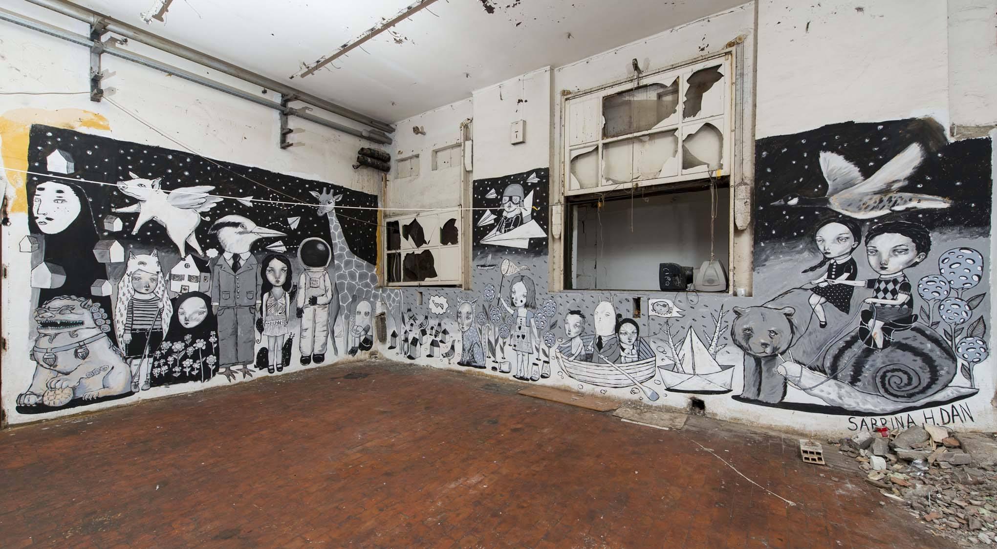 Un murale di Sabrina Dan al MAAM