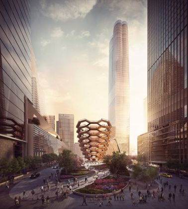 Veduta di Public Square e Gardens dalla 33rd St. - courtesy of Forbes Massie-Heatherwick Studio