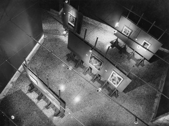 Veduta di una sala della mostra Per Brera, 1974