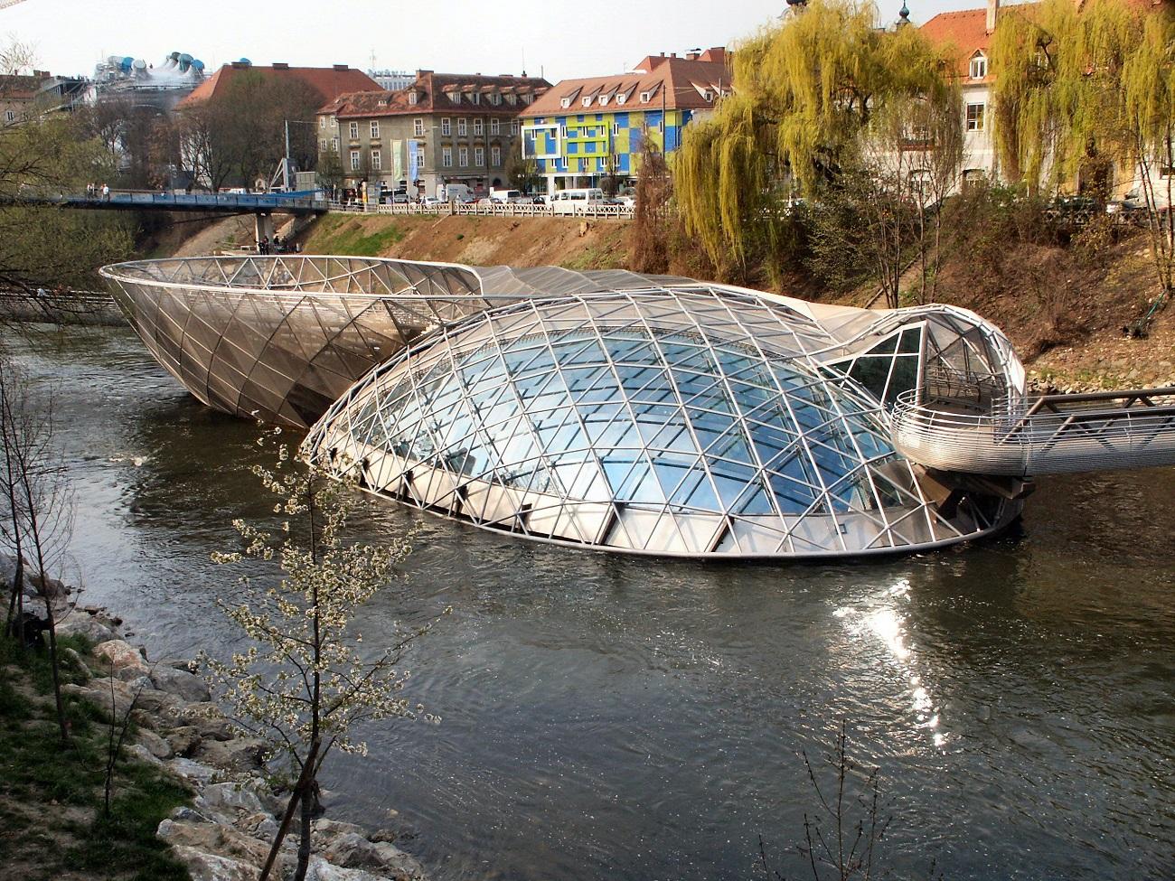 Vito Acconci, Murinsel, l'isola sul fiume Mur a Graz