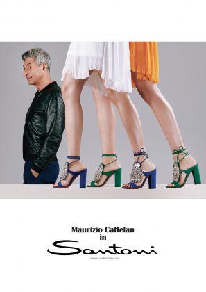 Maurizio Cattelan volto di Santoni per la campagna Spring-Summer 2017