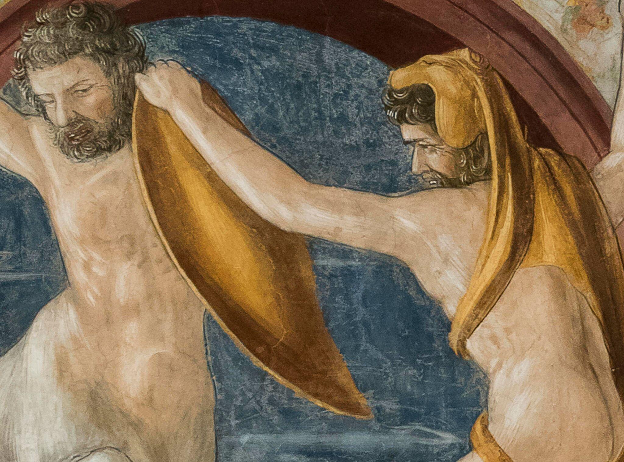 Sala di Ercole, Palazzo Venezia, Roma, dettaglio del fregio con Ercole e il Centauro Nesso