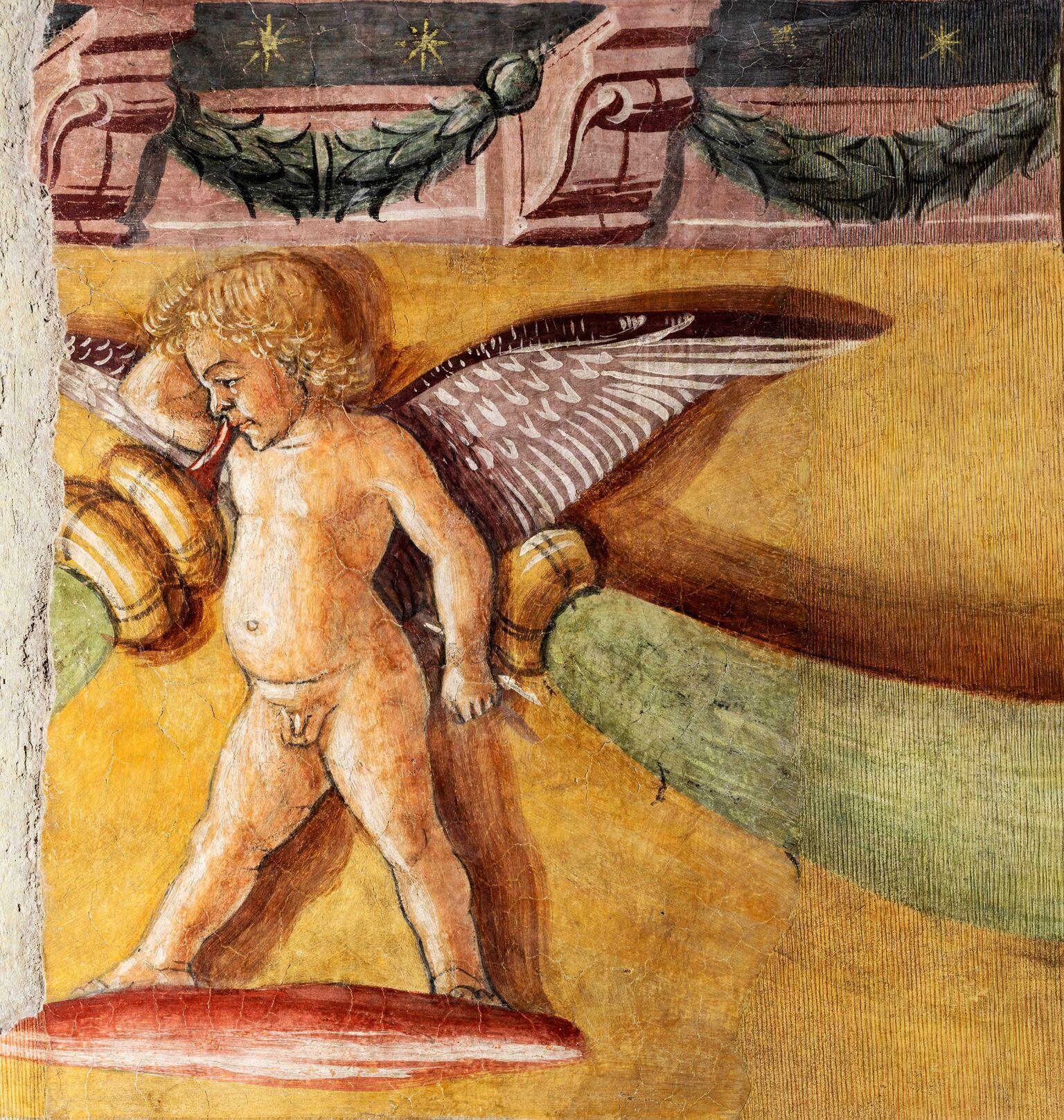 Sala di Ercole, Palazzo Venezia, Roma dettaglio del fregio con un putto
