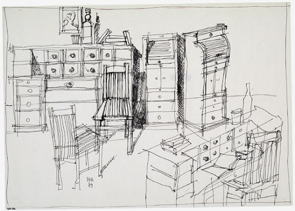 Aldo Rossi, Ambiente con arredi, 1989 Archivio Aldo Rossi, Collezione MAXXI Architettura