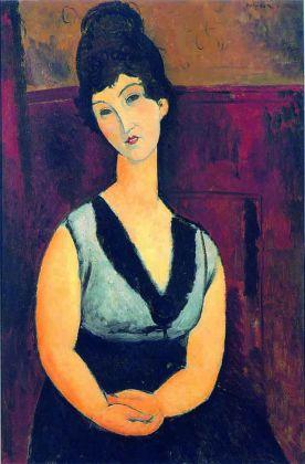 Amedeo Modigliani, La bella cioccolataia, 1916-17. Meilen, Collezione privata